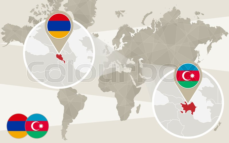 World map zoom on Azerbaijan, Armenia. ...   Stock vector ... on bhutan world map, qatar on world map, jordan world map, pakistan world map, israel world map, bahamas world map, sudan world map, palestine world map, oman world map, belarus world map, tonga world map, egypt world map, kuwait world map, netherlands world map, united arab emirates world map, tanzania world map, ukraine world map, burma world map, benin on world map, bahrain world map,
