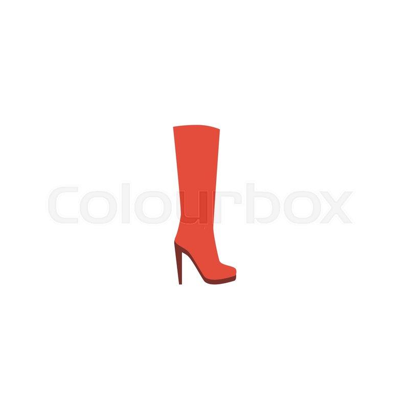 ed700c1c89 Flat Icon Heeled Shoe Element. Vector ...