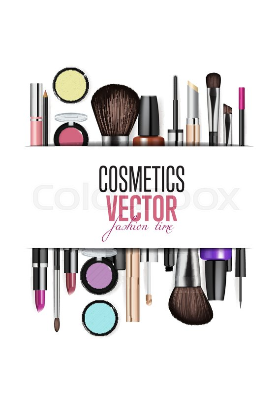 Cosmetics Products Fashion Makeup Stock Vector Colourbox