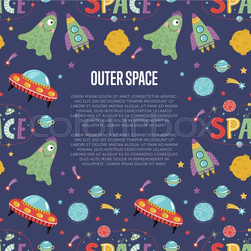 Outer space cartoon web banner funny jelly alien flying for Jobs in outer space