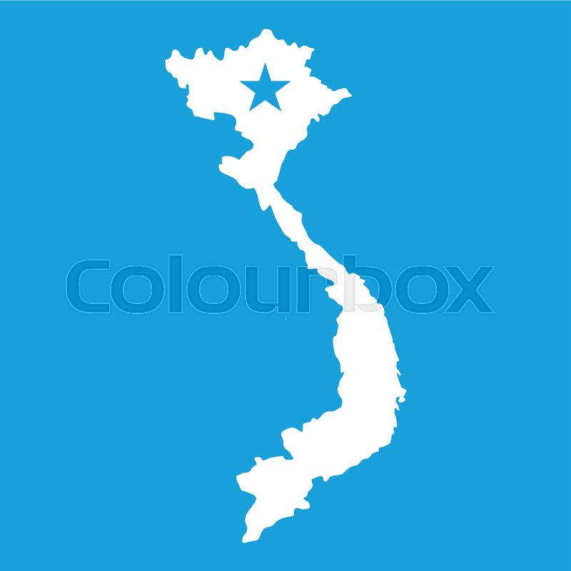 Vietnam map icon white isolated on blue background vector stock vector of vietnam map icon white isolated on blue background vector illustration gumiabroncs Gallery