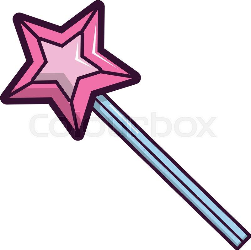 Magic Wand Star Icon Cartoon Illustration Of Magic Wand Star Vector