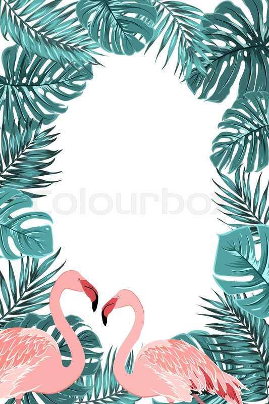exotic tropical border frame template