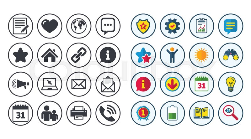 Set Of Communication Conference And Information Icons E Mail