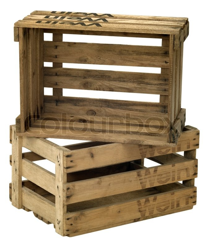 Wine Crates Part - 44: Stock Image Of U0027Studio Photography Of Two Wooden Wine Crates Isolated On  White With Clipping