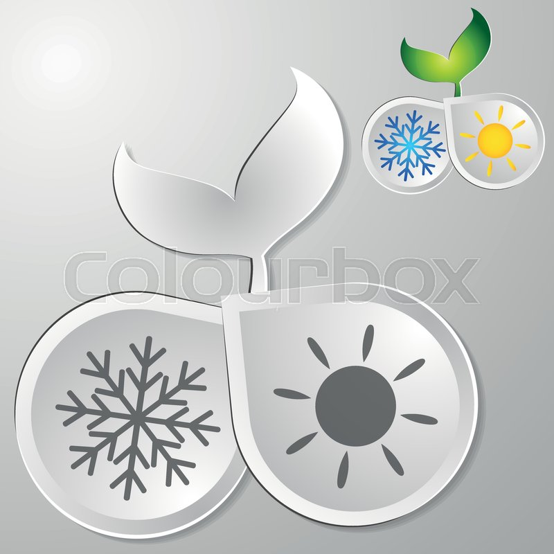 Eco The Air Conditioner Symbol For Business Stock Vector Colourbox