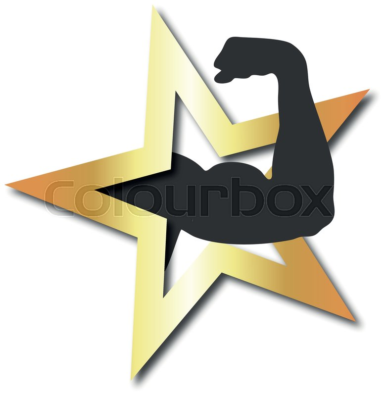 Design Symbol For Fitness Club Stock Vector Colourbox