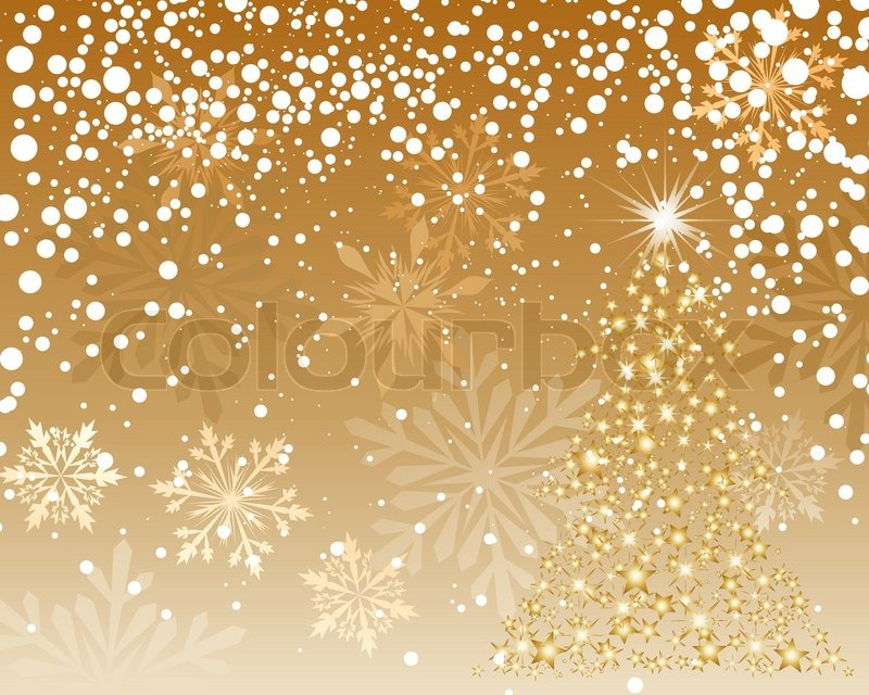Beautiful Vector Christmas New Year Background For