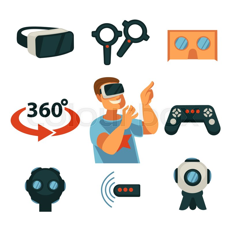 42d5bfa0af5 Virtual Reality or 360 VR game device ...