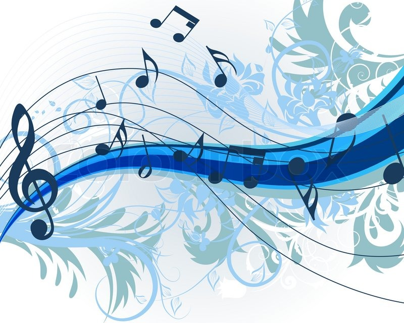 Floral music theme for design use Vector illustration ...