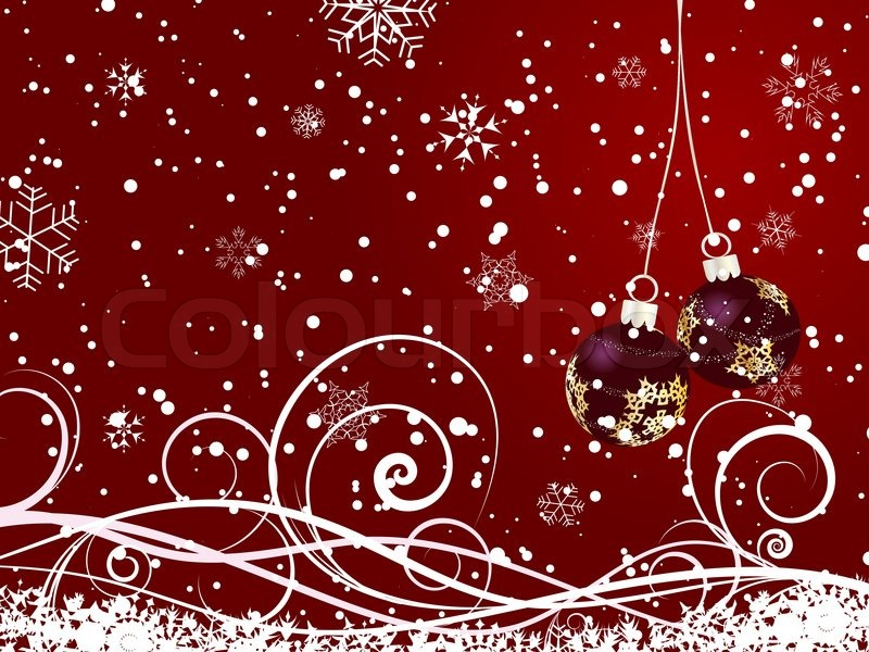 Beautiful vector Christmas New Year background for design use ...