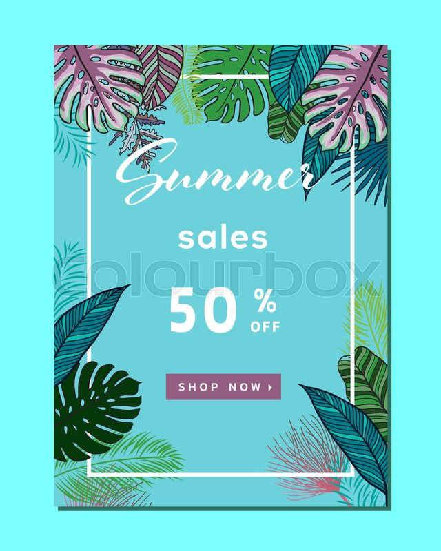 Summer Sale Background Layout For BannersWallpaperflyers Invitation Posters Brochure Voucher DiscountVector Illustration Template Vector