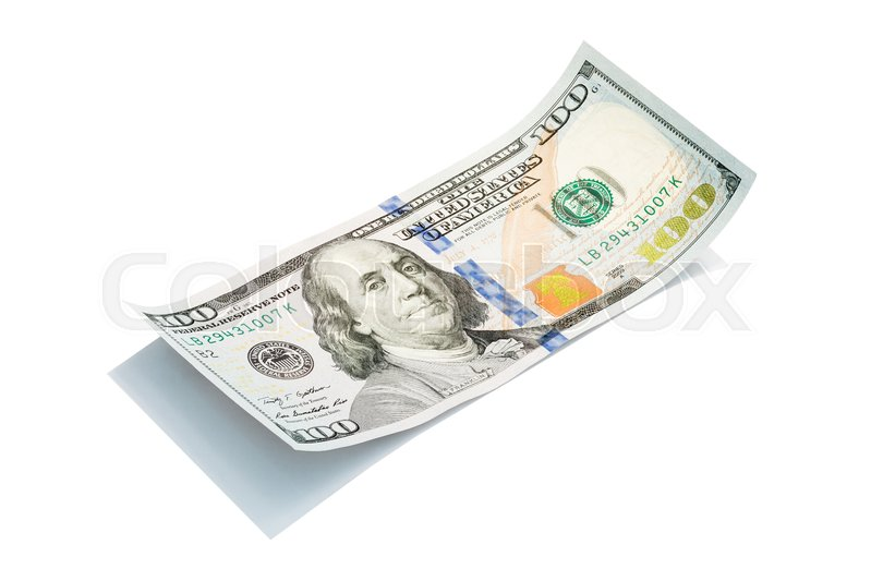 The new U S  100 dollar bill isolated | Stock image | Colourbox