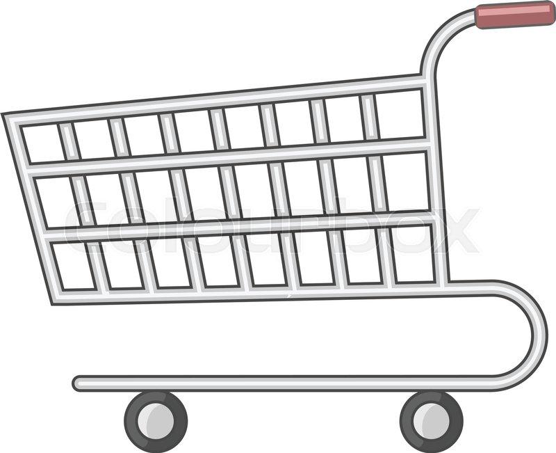 Supermarket Cart Icon Cartoon Stock Vector Colourbox