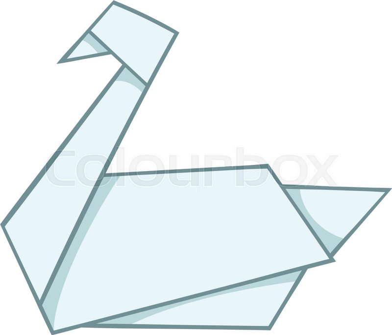 Origami Swan Icon Cartoon Illustration Of Vector For Web Design