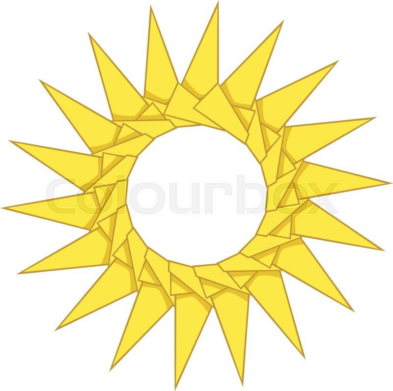 Origami Sun Icon Cartoon Illustration Of Origami Sun Vector Icon