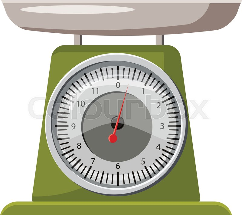 Domestic Weigh Scales Icon  Cartoon