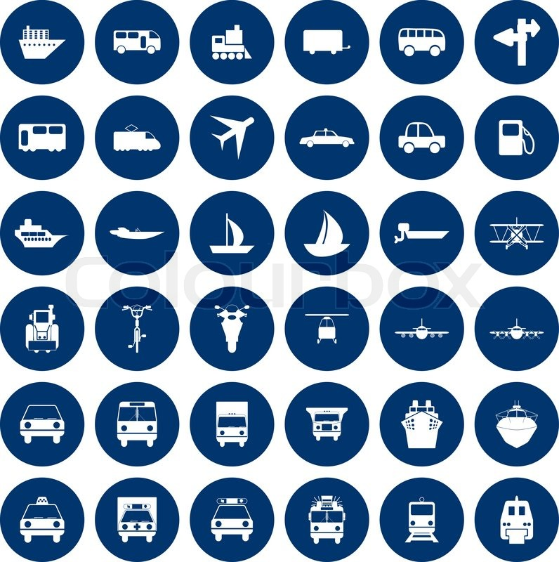 Transportation Set Of Different Vector Web Icons Vector 2779303 on electric car illustration