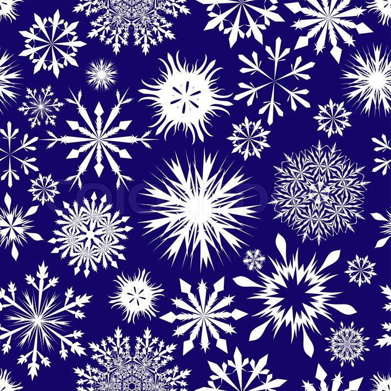 Nahtlose Schneeflocken Hintergrund für Winter und Weihnachten Thema ...
