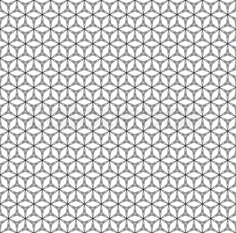 Vector monochrome seamless pattern,     | Stock vector