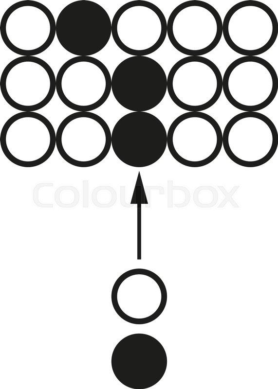big data chain reaction circuit vector black icon on white