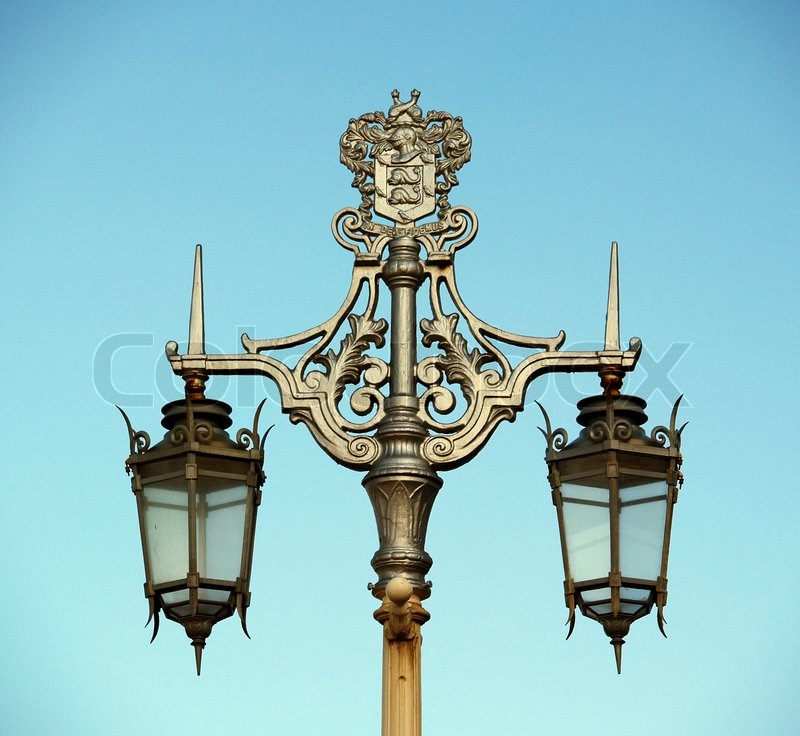 Decorative Old Street Lamp In Brighton Stock Photo