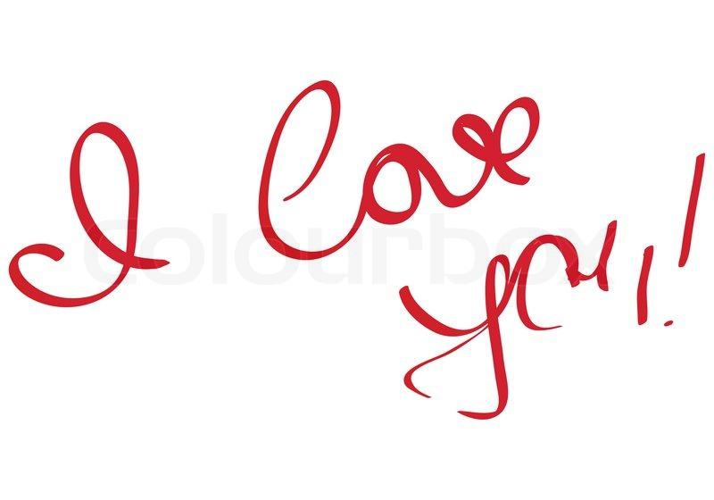 I Love You Imágenes De Stock I Love You Fotos De Stock: Handwriting Message I Love You