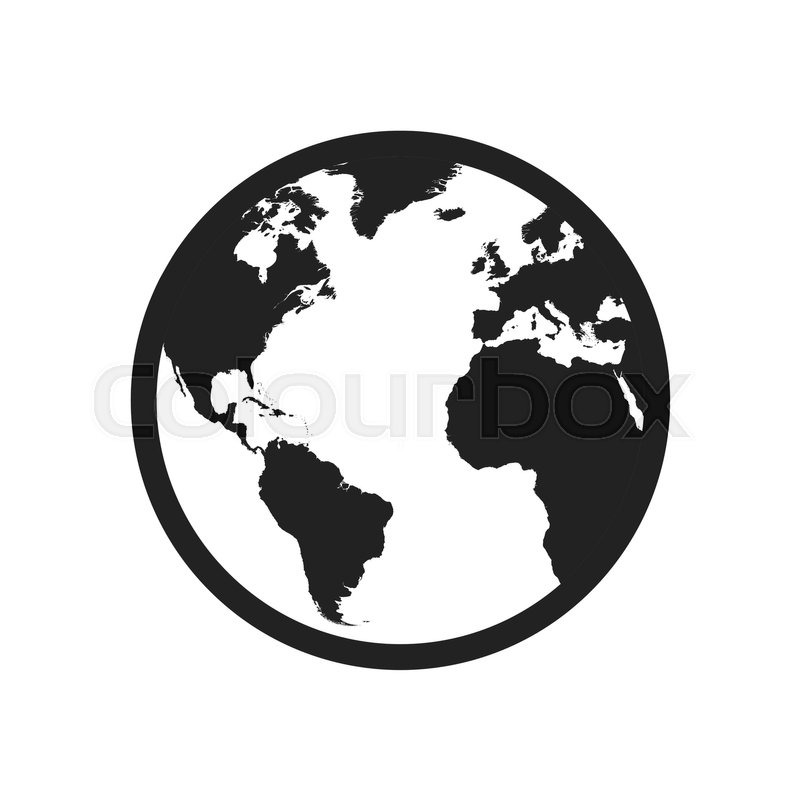 Globe world map vector icon round earth flat vector illustration globe world map vector icon round earth flat vector illustration planet business concept pictogram on white background stock vector colourbox gumiabroncs Gallery