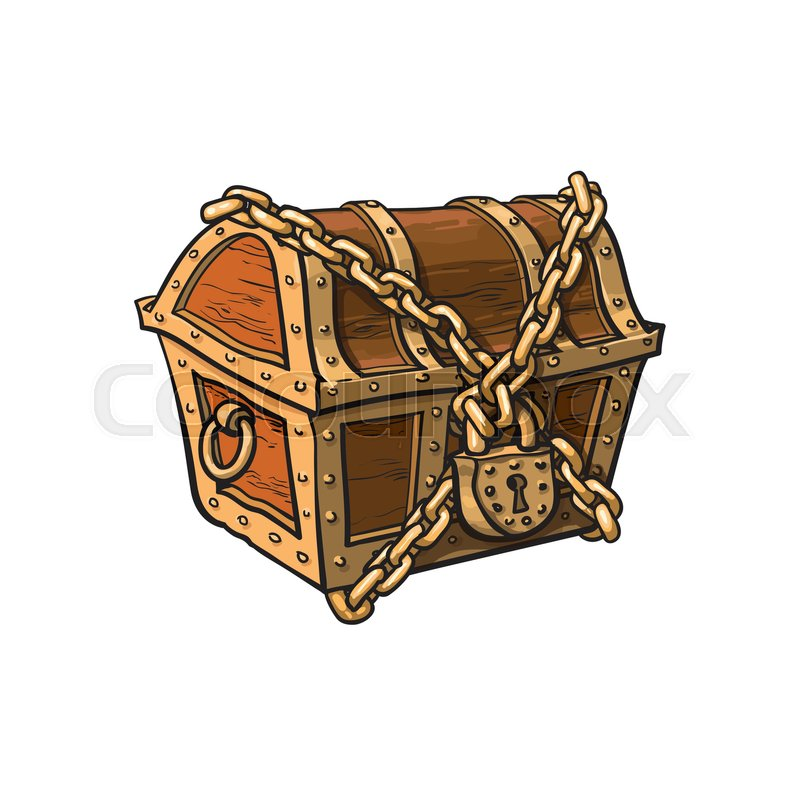 treasure chest lock coloring pages - photo#33