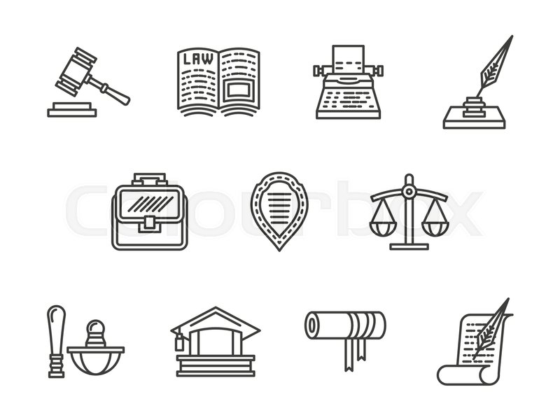 Symbols For Justice And Law Private Lawyer Defense In Court And