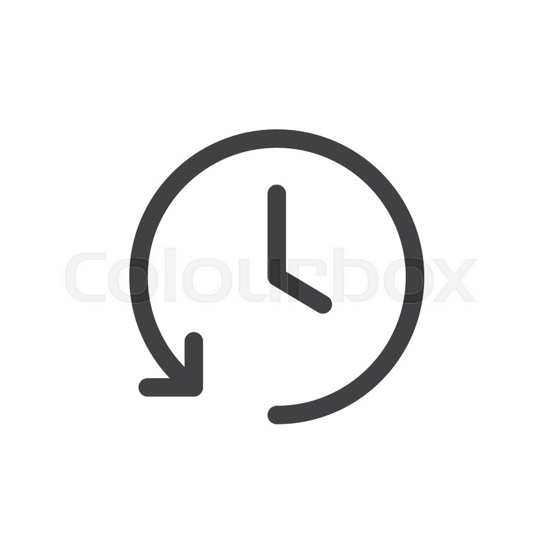 History Line Simple Icon Outline Vector Sign Linear Style