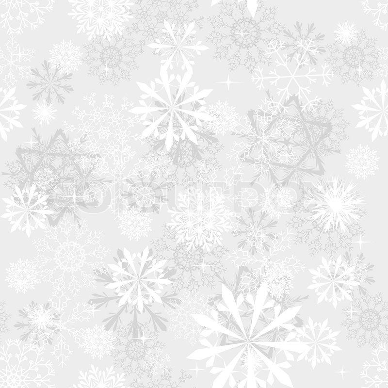 nahtlose schneeflocken hintergrund f r winter und weihnachts thema vektorgrafik colourbox. Black Bedroom Furniture Sets. Home Design Ideas