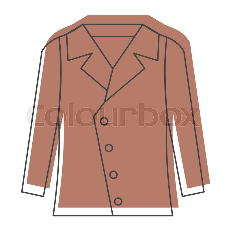 f38514445ddb Brown jacket in doodle style icons ... | Stock vector | Colourbox