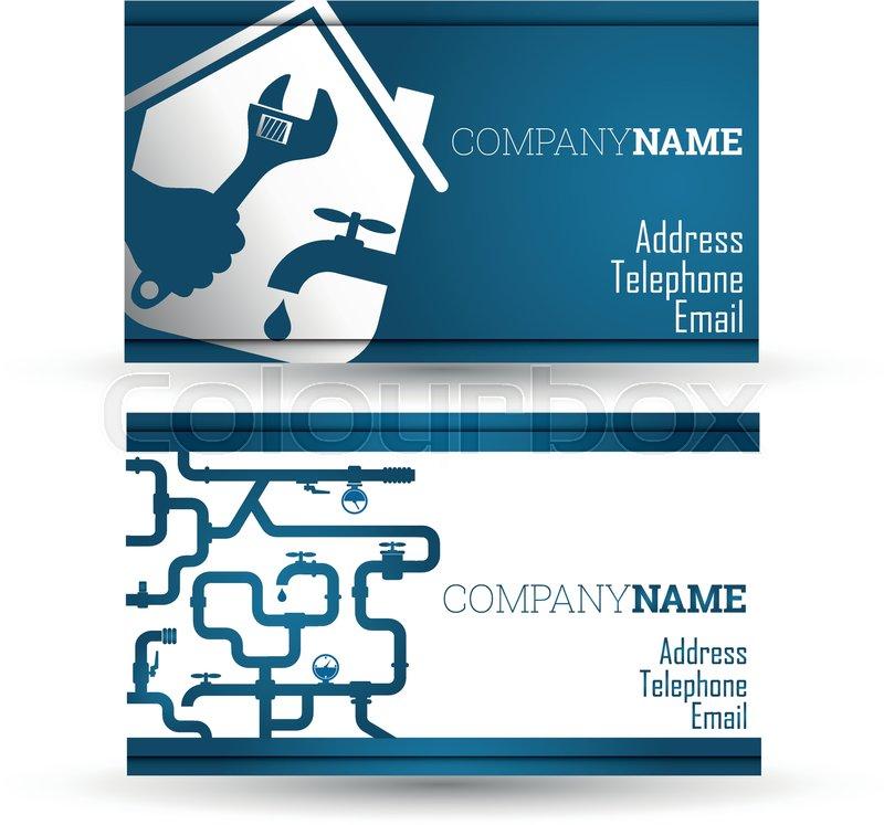 Business card repair of plumbing and sanitary ware, vector   Stock ...