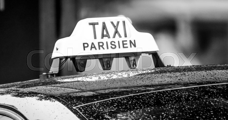 paris taxi cab in the city paris france september 24 2017 stock photo colourbox. Black Bedroom Furniture Sets. Home Design Ideas