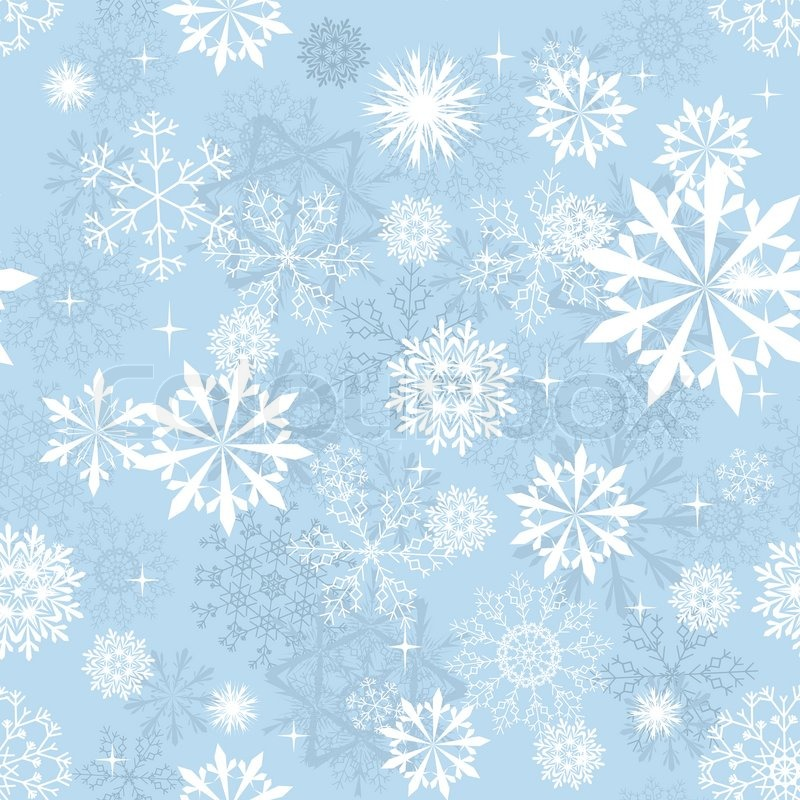 Seamless Snowflakes Background For Stock Vector Colourbox