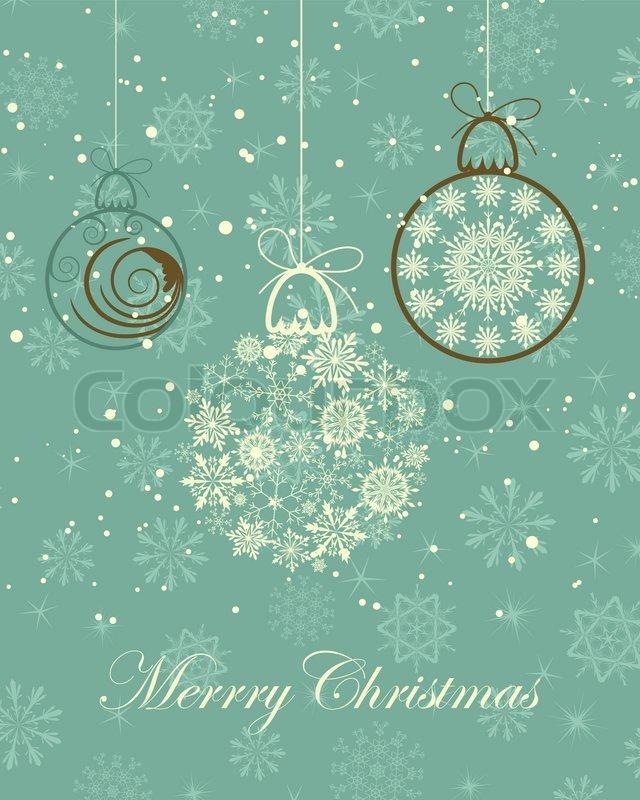 Schöne Retro -Vektor Weihnachten Neujahr Karte für Design verwenden ...