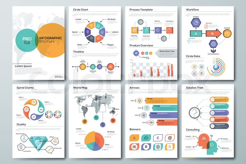 Modern Infographic Brochure Template Pages With Diagram Graph - Infographic brochure template