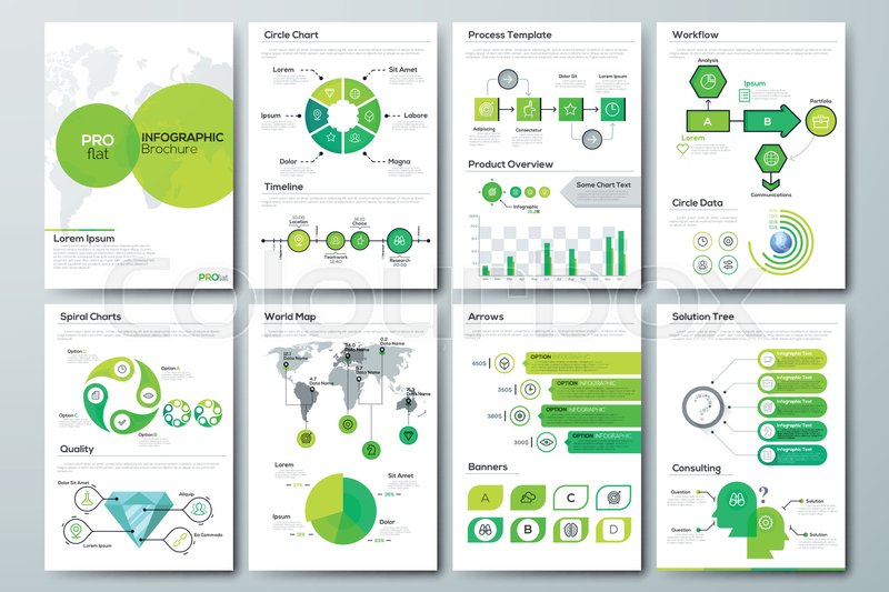 Modern Infographic Brochure Template Pages With Diagram Graph