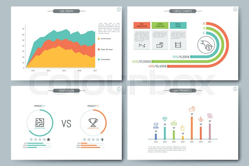 Minimal Infographic Brochure Template Pages With Comparison - Infographic brochure template
