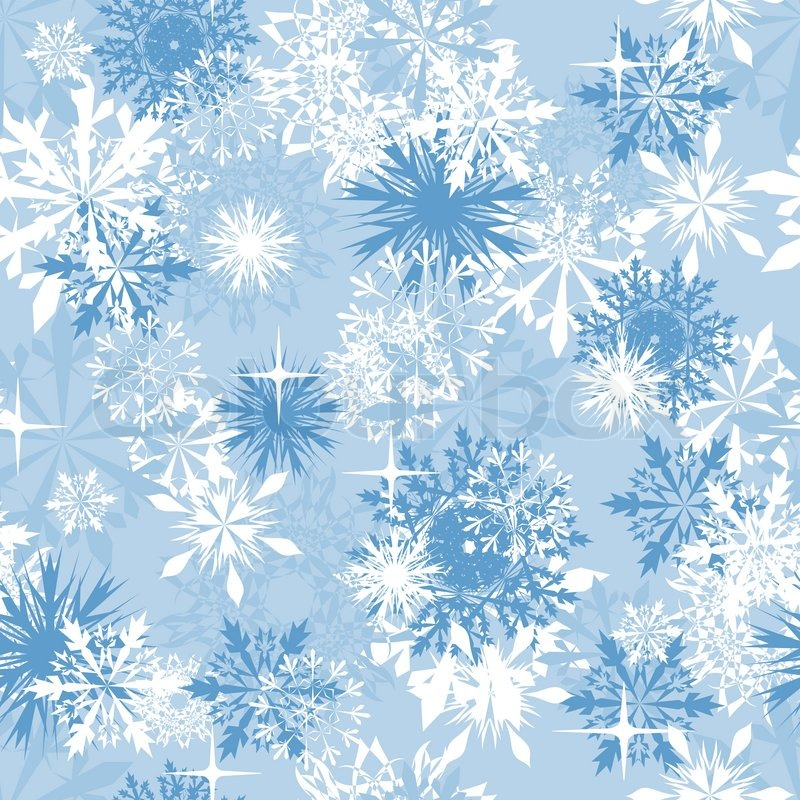 seamless snowflakes background for winter and christmas