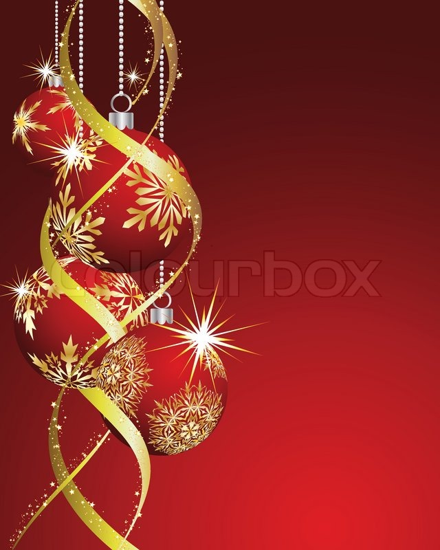 Beautiful vector Christmas New Year card for design use | Stock ...