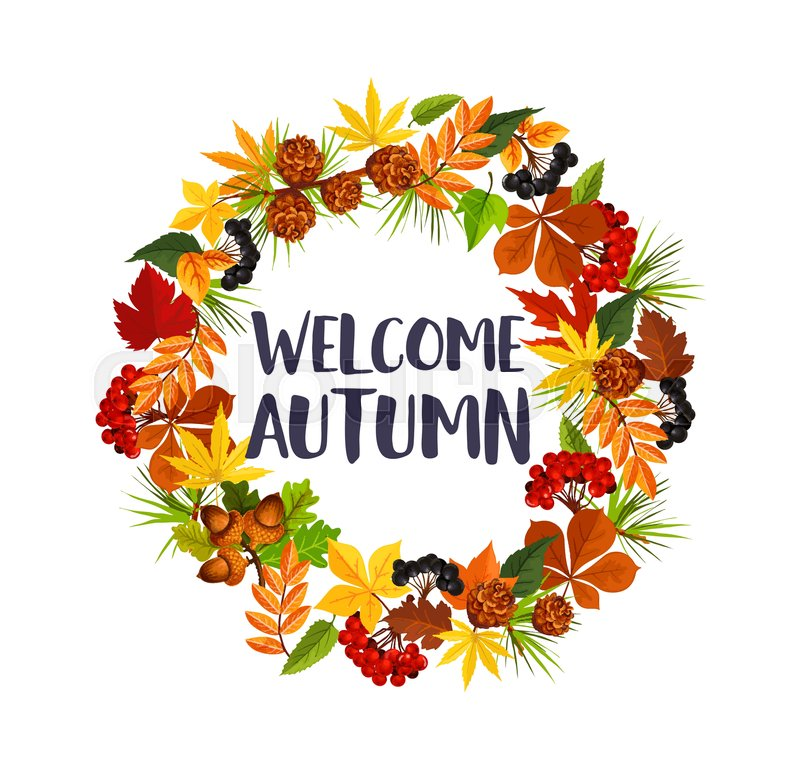 welcome autumn poster of fall maple leaf  oak acorn or free clipart bible images free clip art bible characters