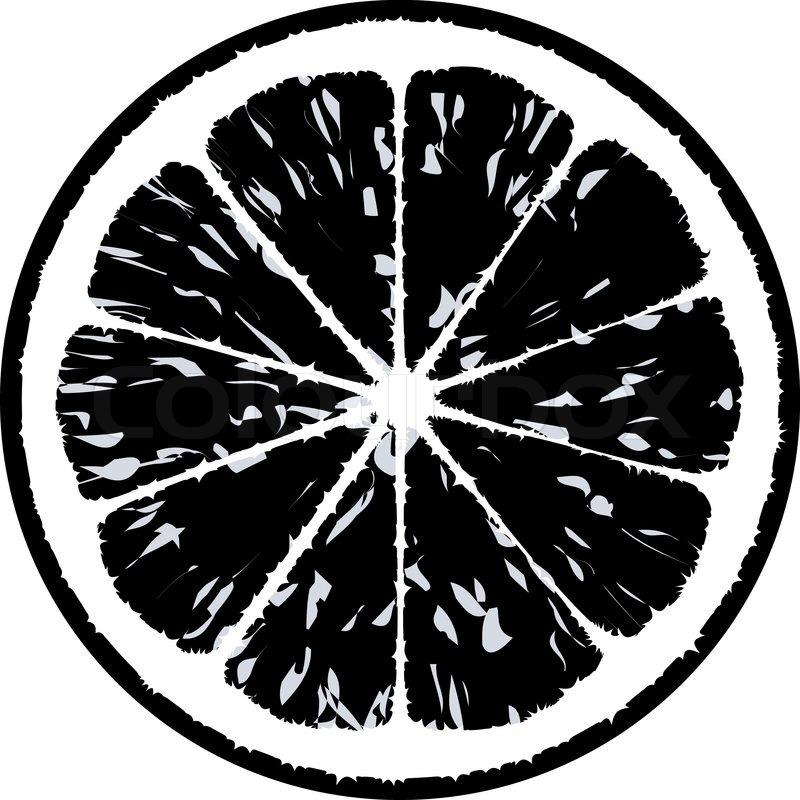 Black Lemon Vector Illustration