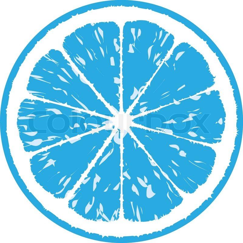 Blue lemon, vector illustration | Stock Vector | Colourbox