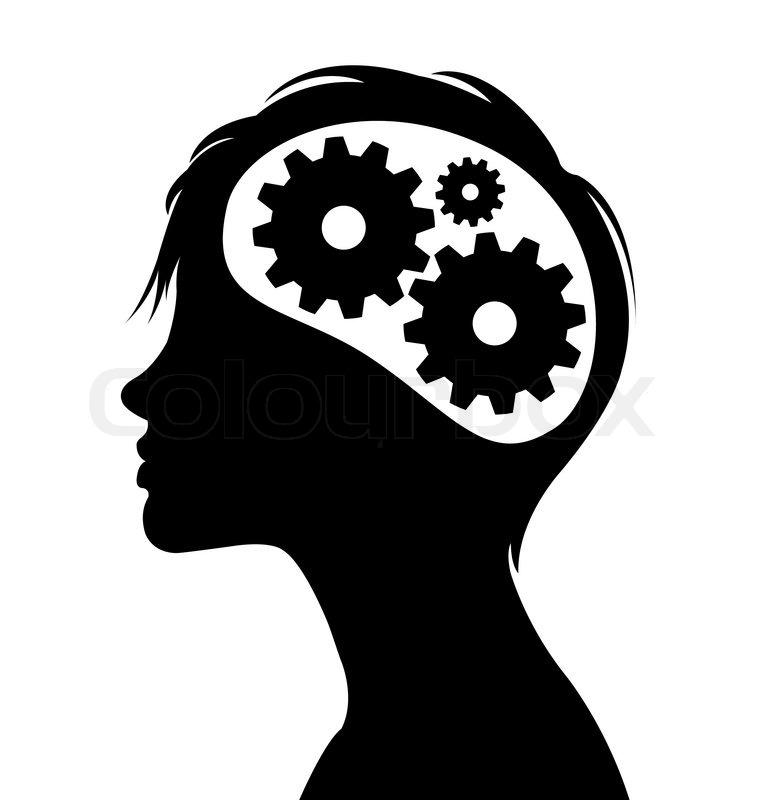 Brain black and white clipart