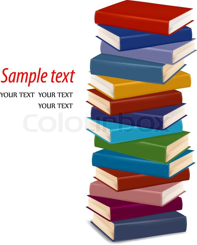 Stack of colorful books. Vector | Stock Vector | Colourbox
