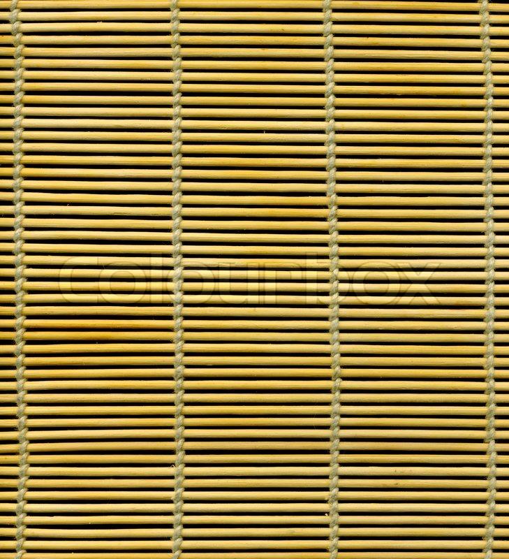 Bamboo stick straw mat Bamboo placemat texture | Stock Photo ...