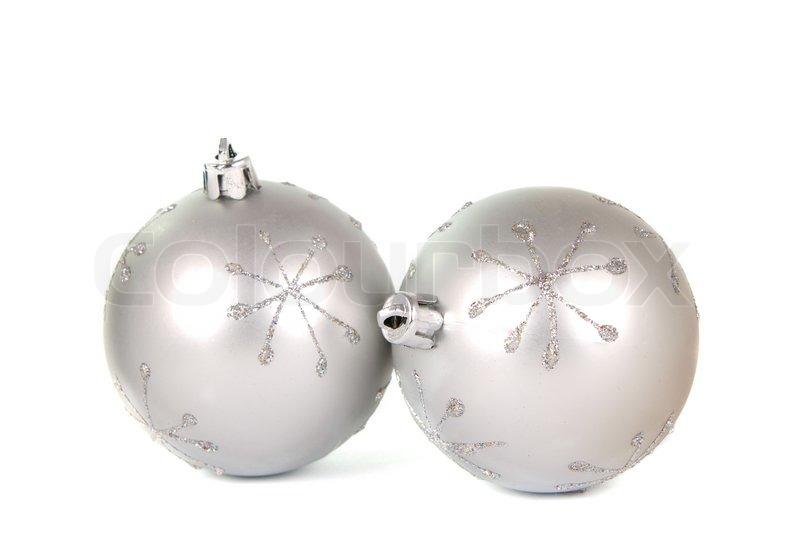White Christmas Background Christmas Balls on a White