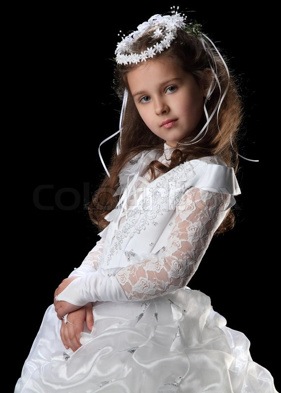 Girl First Birthday Outfit Pinterest: First Communion Beautiful Girl In White Dress